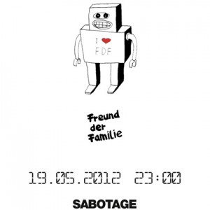 Flyer Etui Session: Freunde Der Familie at Sabotage Dresden on May 19th 2012