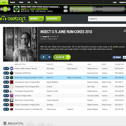 Insect O. Beatport charts June 2012