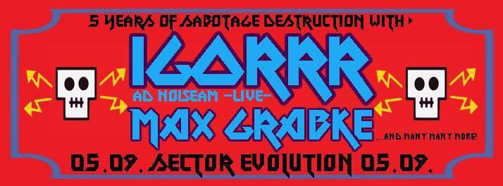 5 Years Sabotage Dresden At Sektor Evolution on Septemeber 5th 2015